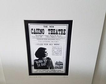 Narragansett Casino Theatre silver gelatin print