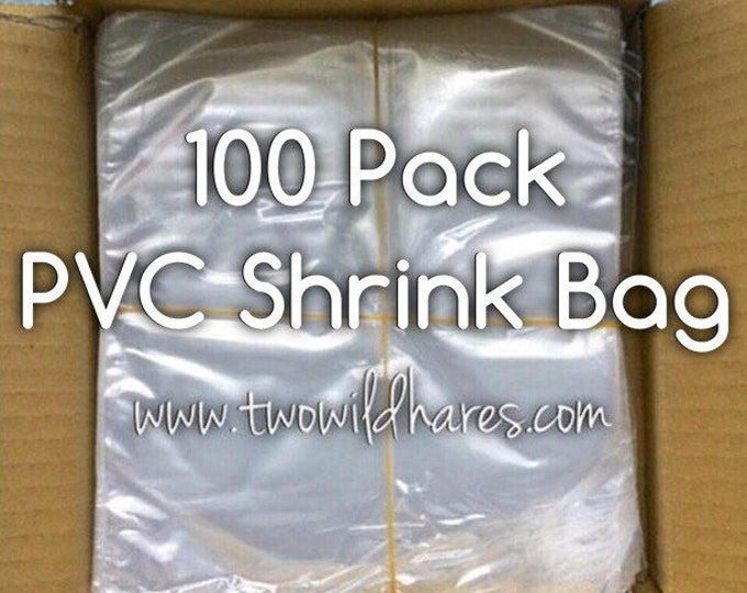 100-PVC Shrink Wrap Bags, 80g, High Clarity, Low Heat Required, Two Wild Hares