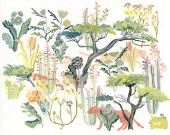 Cheetah and Cypress- Archival Print