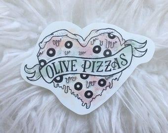 I LOVE PIZZA STICKER <3