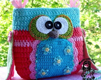 Crochet pattern - Owl purse by VendulkaM / digital pattern, DIY,Pdf