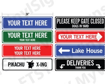 Custom Metal Sign: Metal Street Sign - Custom Street Sign