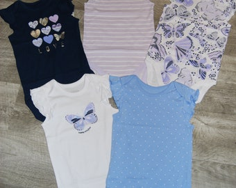 5 Pack of G Tube Bodysuits, Made to Order 18-24 Month & 9-12 Month