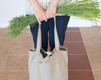 Shoulder bag, Shopping bag, Tote bag, Natural linen bag, Summer bag, Weekender bag, Beach bag, Travel bag, Bag with pocket