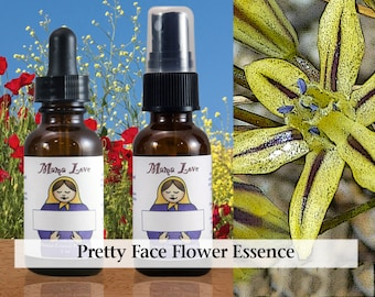 Pretty Face Flower Essence, 1 oz Dropper or Spray for Radiating Inner Beauty, Self-Acceptance, Feeling Attractive