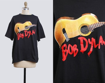 Vintage 90s BOB DYLAN T Shirt 1990 Band Shirt Under the Red Sky / 1990s Rock Tshirt Concert Tee Tour Rock n Roll Rocker Medium Large m l