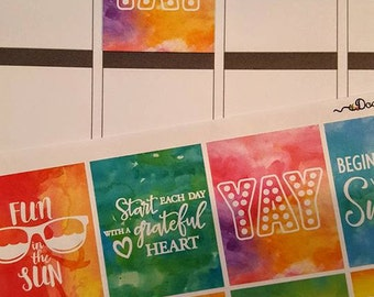 New Full Box Quote Stickers for Your Planner, Set of 16!!