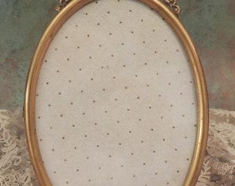 Micro Mosaic Frame, Italian Micro Mosaic Picture Frame, Floral Micro Mosaic Tesserae Frame with Flowers, 4 x 5-3/4 Oval Micro Mosaic Frame