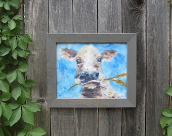 """Cow Painting 12"""" by 10"""""""