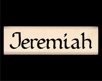 Jeremiah - Name Rubber Stamp for Kids