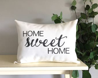Home Sweet Home Pillow, Decorative Pillow, Rustic Home Decor, Accent Pillow, Personalized Pillow, Rustic Decor, Gift, Farmhouse Decor