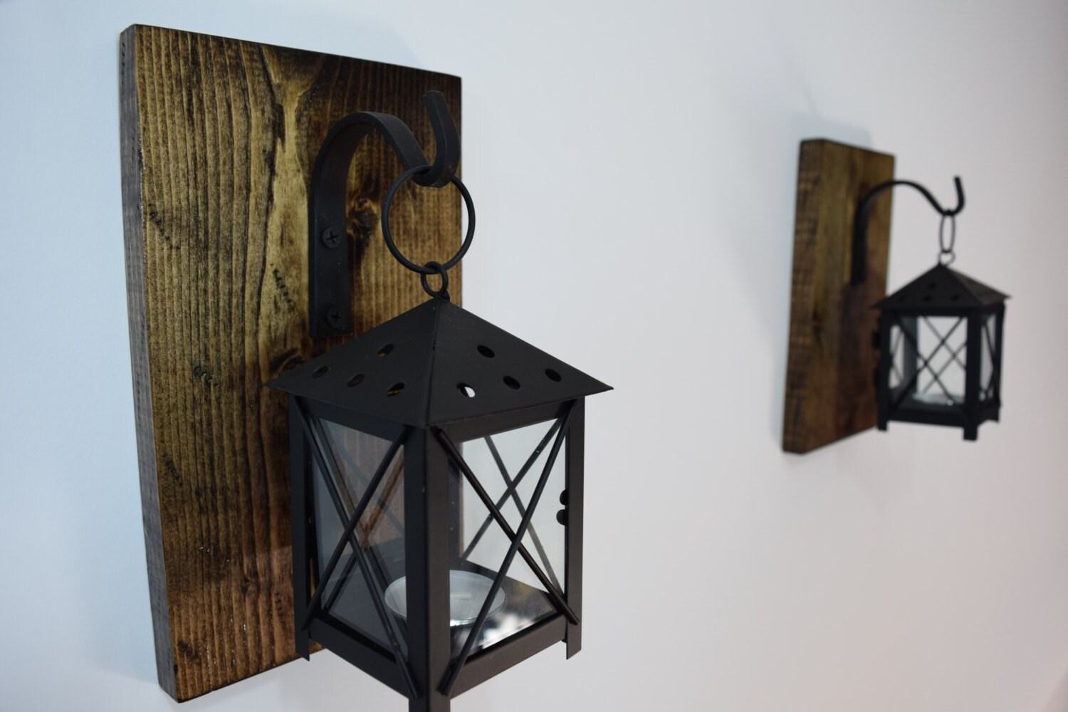 Famous Rustic Candle Lantern Sconces Wall Decor Wall Sconce NW71