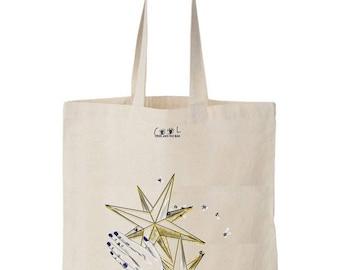 Tote bag Reaching star