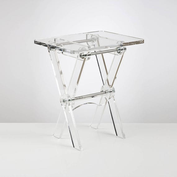 Acrylic Folding Coffee Table Space Saving Side Table