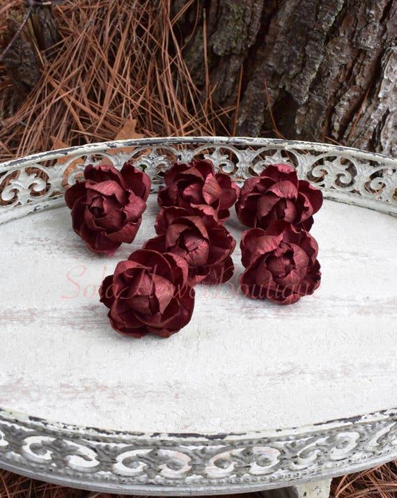 DOZEN (12) Sola Flowers Burgundy Sola Flower DIY Sola Flower ...