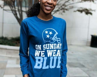 On Sundays We Wear Blue Titans Gameday Tee