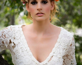 Bridal Flower Crown Destination Wedding orange  Headdress wine halo dried hair wreath headband gold berry Accessories