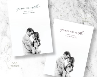 Simply Peaceful Holiday Photo Cards