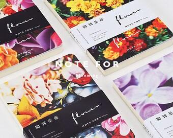 Floral Garden Blank Notebook, Minimalist Notebook, Planner, Journal, Planner Insert, Journal Insert