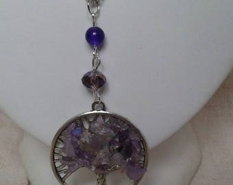 tree and purple stone necklace