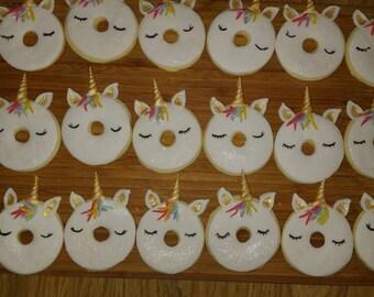 Unicorn cookies ,Unicorn sugar cookies,....one dozen