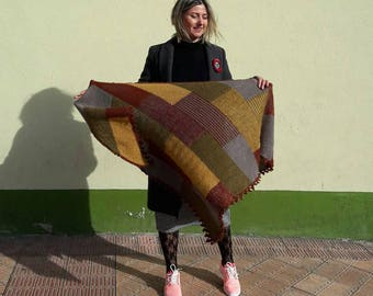 Shawl Tofu laptops /chal/shawal/woman point / / amazing Handmade, knitt, knitting, handmade, coat