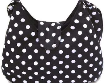 Polka Dot Purse - Polka Dot Hobo Bag - Everyday Bag - Cross Body Bag - Sling Bag - Cross Body Hobo Bag - Crossbody Bag - Cross Body Purse