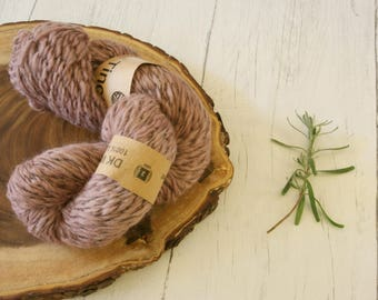 Wool, nylon twist DK, double knit, Hand Dyed, plant dyes, natural dyes, blackberries, purple,
