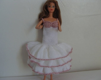 Barbie doll clothes, dress with Ruffles for Barbie doll