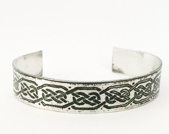 Aluminum Cuff, Celtic Bracelet - Free Domestic Shipping