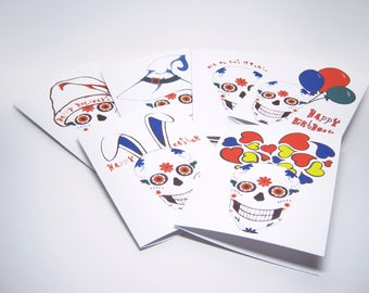 Variety Pack of Sugar Skull Greeting Cards