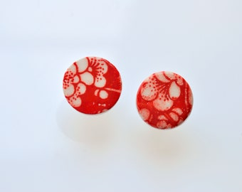 Flora - Statement One: Small Round Stud Earrings