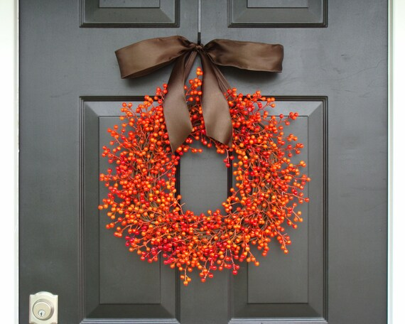 Berry Wreath, Fall Berry Wreath, Fall Wreath with Berries, Fall Decor, Fall Decoration  WEATHERPROOF BERRIES