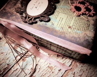 Vintage Inspired library/ photo Journal book / Diary