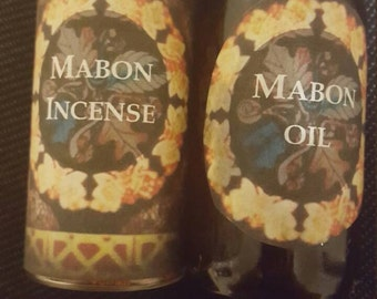 Mabon / Autumn Equinox Set of Oil and Incense -