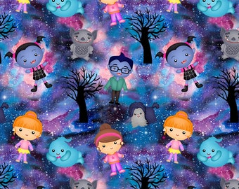 Halloween Vampire CL knit 1 yard new