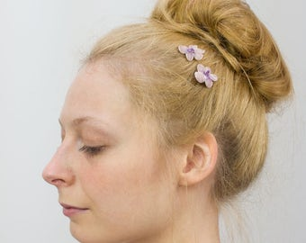 Lilac Flower Hair Clips, Lilac Flower Bobby Pins, Lilac Flower Hair Grips, Lilac Flower Hair Pins, Lilac Blossom Flower, Girls Hair Clips