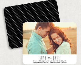 Photo Save the Dates, Modern Save the Dates, Printable Save the Dates, Save the Date PDF, Custom Save the Dates, Simple Save the Dates, PDF