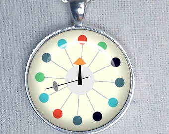 Atomic Clock Necklace ~ MCM Necklace ~ Girlfriend Gift ~ Birthday Gift ~ June Birthday Gifts
