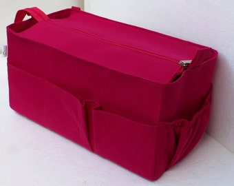 Purse organizer for Longchamp with Zipper closure- Bag organiser in Fuchsia