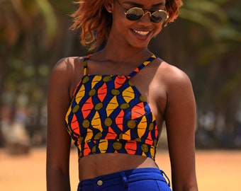 African inspired Ankara ABENA crop top