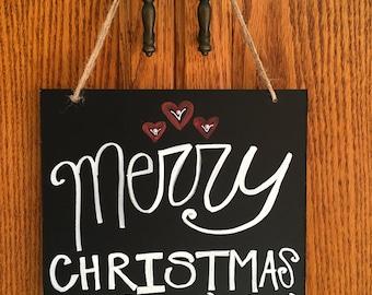 Merry Christmas Blessings Custom Chalkboard