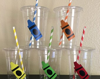 Crayon Party Cups, Art Party cups, Artist Party