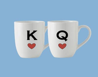 King and Queen couples coffee mugs
