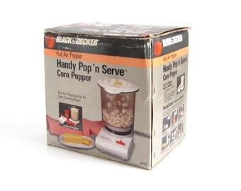Black Decker Handy Pop N Serve Popcorn Popper - Used, as-is