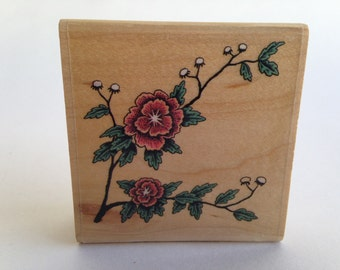 Flowers on a Vine Blossoms on a tree Vintage Rubber Stamp - Card Making - crafts ~ 161012C