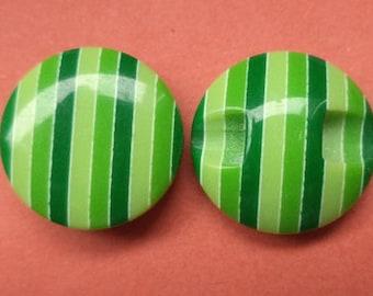 10 buttons Green 15mm (2857) button