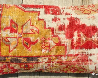 30*50cm Rectangle Lumbar Vintage carpet cushion cover handwoven