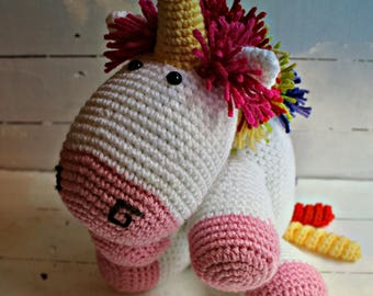 Crochet Rainbow Unicorn Toy, Unicorn Stuffed Animal, Unicorn Doll, Unicorn Party, Unicorn Birthday, Unicorn Gift, Unicorn Present