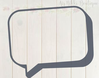 Speech Bubble, Word bubble, SVG, PNG, DXF files, instant download